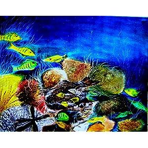 NUCreations Deep Blue Sea - Original Painting - Oil Paint On Canvas