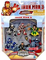 Iron Man 3 Super Hero Squad Exclusive 6-Pack Armored Mission Pack [Iron Man Mark 42 Ghost Armor Deep Depth Rapid Deploy Iron Patriot & Mandarin]