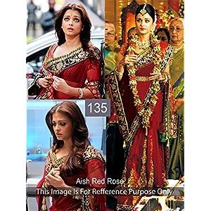 Aishwarya Rai Net Seqins work Bollywood style saree