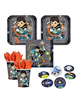 Miles From Tomorrowland Party Supplies 16 Guests Cake Plates, Napkins, Cups, Plus Bonus Stickers