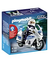 Playmobil Police Motorcycle (int), Multi Color