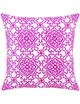 Peking Handicraft 18 by 18-Inch Down-Filled Pillow, Seville, Pink
