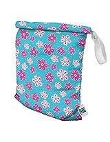 Planet Wise Roll Down Wet Diaper Bag, Aqua Petals, Medium