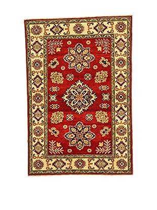 L'EDEN DEL TAPPETO Alfombra Uzebekistan Super Rojo/Multicolor 97 x 146 cm