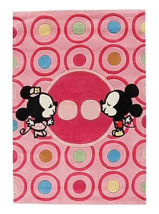 ABC Alfombra Walt Disney Mickey Mouse (Rosa/Lila)