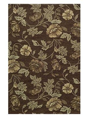 Momeni Veranda Collection Floral Rug (Brown)