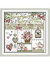 Wall decor 11CT&14CT embroidery cross-stitching Dinging Room Decor needlework kit(no outside frame) (11CT precise printed)