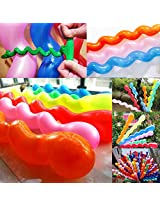 50 x Helium Latex Spiral Balloons Birthday Festival Party Decoration Mix Colors by Goldensat