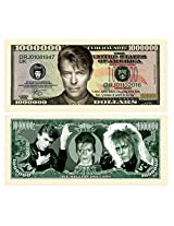 Set Of 10 Limited Edition David Bowie Million Dollar Bill Novelty Note