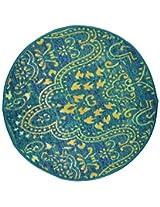 """Agra Dari Woolen Door Mat - 7"""" x 9"""" x 0.39"""", Blue"""