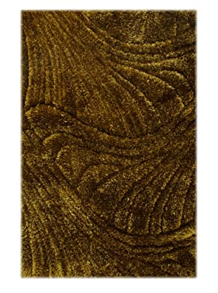 Manhattan Design District Wool Blend Luxury Shag (Green)