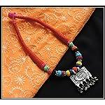 Red thread choker with gungroo pendant