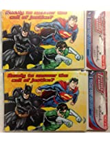 Justice League Superhero Invitations With 8 Invitations And 8 Thank-You Postcards (2)