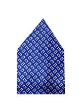 Navaksha Blue Geometrical Pocket Square
