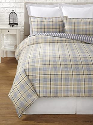 Tommy Hilfiger Spectator Plaid Collection Duvet Set (Khaki Plaid)