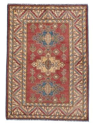 Rug Republic One Of A Kind Pakistani Kazak Rug, Red/Blue/Antique Ivory/Multi, 4' x 5' 8
