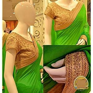New Indian Designer Bollywood Replica Green Saree