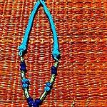Blue Oxidized Silver Oxidised Silver Jewellery Set