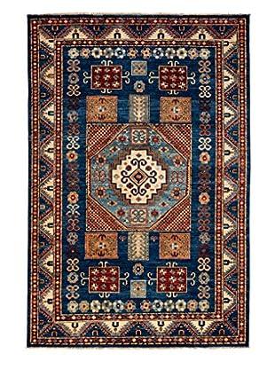 Darya Rugs Shirvan Oriental Rug, Blue, 5' 5