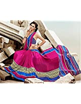 Shri Vaishnavi Women Synthetic Self Print Saree (36022.101 _Multi-Coloured _Free Size)
