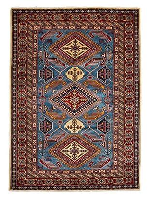 Darya Rugs Fine Kazak Oriental Rug, Blue, 4' 4
