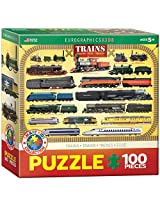 Trains 100 Piece Jigsaw Puzzle By Euro Graphics