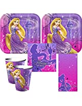 02 Tangled Birthday Party Supplies For 16 Large Plates, Napkins, Cups, Tablecover