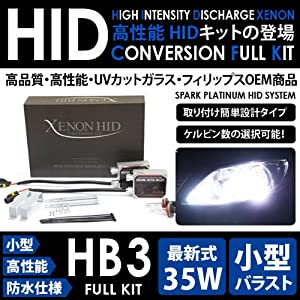 【クリックで詳細表示】SPARK HB3 35W HIDキット 3000K WAGON R SOLIO ワゴンRソリオ H12.12~17.7 MA34S(1300cc) Hiビーム