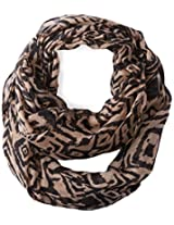 D&Y Women's Two Tone Tribal Print Loop Scarf