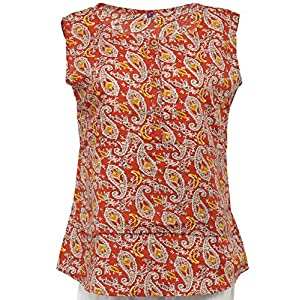 Olivia Women's Printed Brown Layered Top