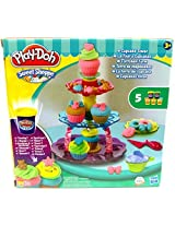 Play Doh Sweet Shop Creations Cupcake Tower With Frosting Kids Playset Cup Cake