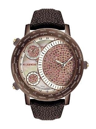 K&BROS 9146-5 / Reloj de Señora  con correa de piel marrón