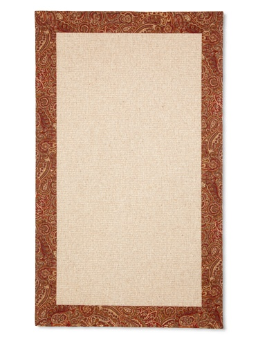 Natural Rugs Carre Paisley Border Rug (Spice)
