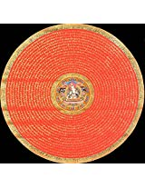 Exotic India White Tara Mandala - Tibetan Thangka Painting