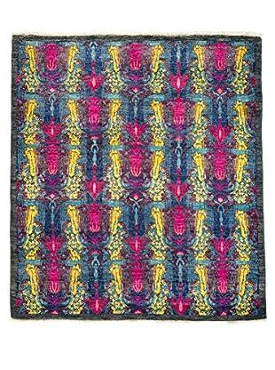 Darya Rugs Suzani Oriental Rug, Pink, 5' x 5' 8