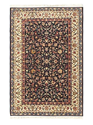 Medallion Style Rug, Cream/Dark Navy, 4' 11