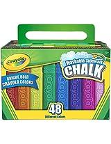 Crayola 48 Count Sidewalk Chalk (51-2048) 2 Pack