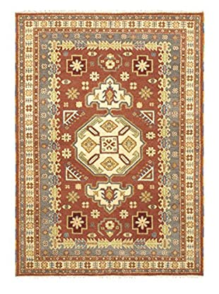 Hand-Knotted Royal Kazak Rug, Brown/Cream, 5' 8