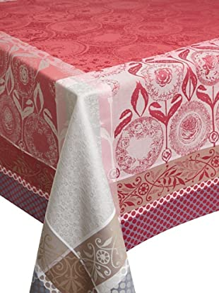 Garnier-Thiebaut Romance Tablecloth (Framboise)