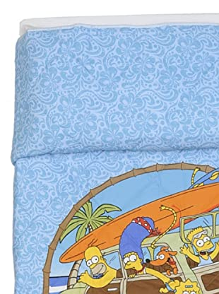 Cartoons Home Trapunta Simpsons Aloha (azzurro/sabbia)