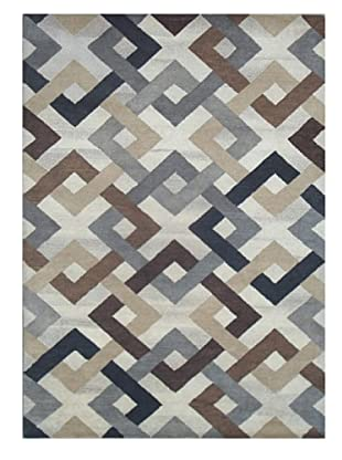 Mili Designs NYC Interlocking Squares Rug, 5' x 8'