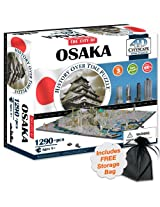 4 D Osaka, Japan Cityscape Time Puzzle With Storage Bag