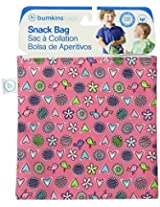 Bumkins Reusable Sandwich And Snack Bag, Pink Love Birds By Bumkins
