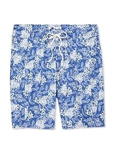 Trunks Men's Saltie Boardshorts (Floral Ferns Blue)