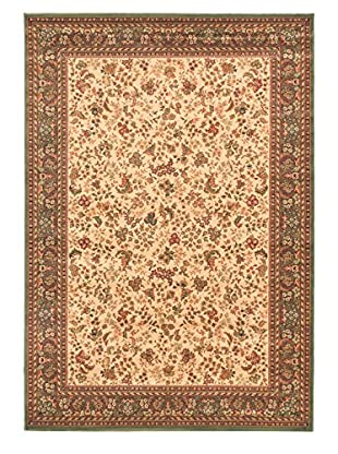 Royale Rug, Green/Ivory, 5' 3