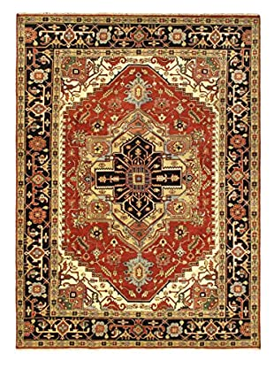 Hand-Knotted Serapi Heritage Wool Rug, Dark Copper, 9' x 12' 4