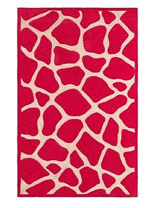 Trade-Am Fashion Giraffe Rug (Pink)