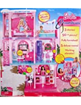 Barbie 3 Story Dreamhouse Furnished Dream House Over 3 Feet Tall W 50+ Pieces, Lights, Sounds