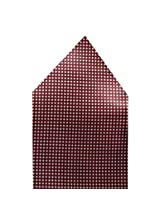 Navaksha Maroon Geometrical Pocket Square