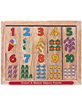 Little Genius Count and Match Object Puzzle, Multi Color